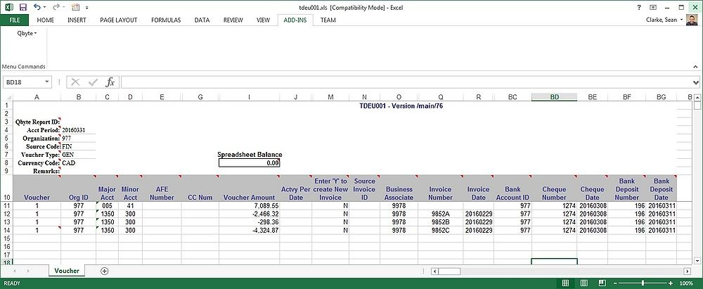 Uploading Cash Receipts - Qbyte FM 2.0 - P2 Energy Solutions Wiki