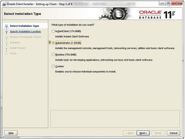 Install Oracle 11g Client including OLEDB Provider - Qbyte